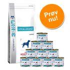 Blandet pakke: Stor pose Royal Canin tørfoder + 12 dåser vådfoder