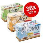 Blandet pakke: 36 x 100 g Catessy Bidder