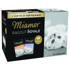 Blandet pakke: 12 x 100 g Kitten Miamor Ragout Royale i gele