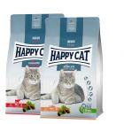 Blandet pakke: 2 x 4 kg Happy Cat Indoor