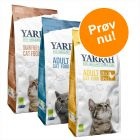 Blandet pakke: 3 x 2,4 kg Yarrah Øko kattefoder