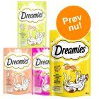 Blandet prøvepakke: Dreamies kattesnacks 4 x 60 g