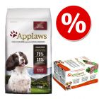 Blandpack: 7,5 kg Applaws torrfoder för hund + Applaws Dog Paté 5 x 150 g