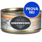 Blandpack Greenwoods Adult våtfoder 6 x 70 g