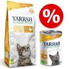 Blandpack: 10 kg Yarrah Organic + 18 x 400 g våtfoder