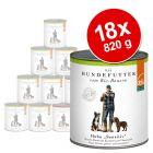 Blandpack: 18 x 820 g Defu Organic Sensitive hundfoder