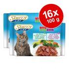 Blandpack: 16 x 100 g Stuzzy Cat i portionspåse