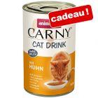 Boisson Animonda Carny Cat Drink 140 mL pour chat offerte !