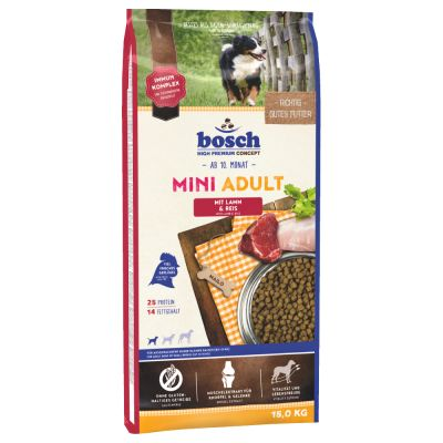 bosch Mini Adult Lamb & Rice Dry Dog Food