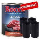 BoîteRocco Classic 24 x 800 g pour chien + Rouleaux de sacs à excréments offerts !