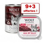 Boîtes Wolf of Wilderness 9 x 300 g / 400 g + 3 offertes !