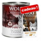 Boîtes Wolf of Wilderness 24 x 800 g + croquettes