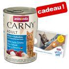 Boîtes Animonda Carny 6 x 400 g pour chat + friandises Milkies 4 x 15 g offertes !