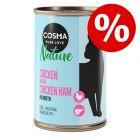 Boîtes Cosma Nature 70 g, 140 g ou 280 g jusqu'à 20 % de remise !