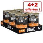 Boîtes Crave Adult  pour chien 4 x 400 g + 2 x 400 g offertes !