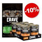 Boîtes Crave Adult 6 x 400 g + croquettes agneau, bœuf 11,5 kg : 10 % de remise !