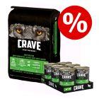 Boîtes Crave Adult 6 x 400 g + croquettes 11,5 kg à prix avantageux !