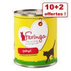 Boîtes Feringa Classic Meat Menu pour chat 10 x 800 g + 2 boîtes offertes !