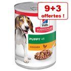 Boîtes Hill's Science Plan pour chien 9 x 370 + 3 boîtes offertes !