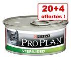 Boîtes PURINA PRO PLAN pour chat 20 x 85 g + 4 boîtes offertes !