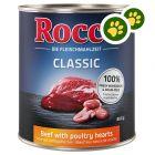Boîtes Rocco Classic 24 x 800 g pour chien : zooPoints doublés !