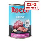 Boîtes Rocco Junior  pour chien 22 x 400 g + 2 boîtes offertes !