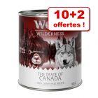 Boîtes Wolf of Wilderness 10 x 800 g + 2 boîtes offertes !