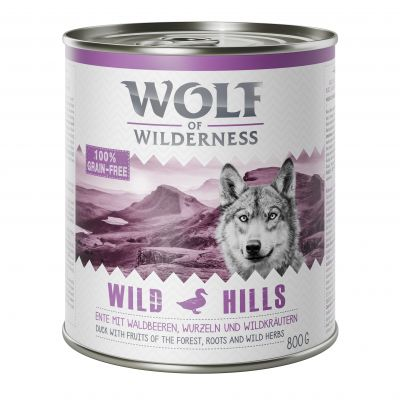 Boîtes Wolf of Wilderness 12 x 800 g + Bouchées Wide Acres poulet 180 g