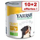 Boîtes Yarrah Bio pour chien 10 + 2  boîtes offertes !