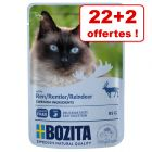 Bozita Bouchées en gelée / en sauce 22 x 85 g + 2 bouchées offertes !