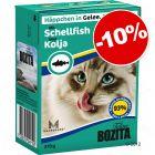 Bozita Bouchées en gelée / en sauce 6 x 370g pour chat : 10 % de remise !