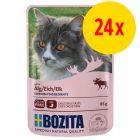Bozita Chunks in Jelly Pouch -säästöpakkaus 24 x 85 g