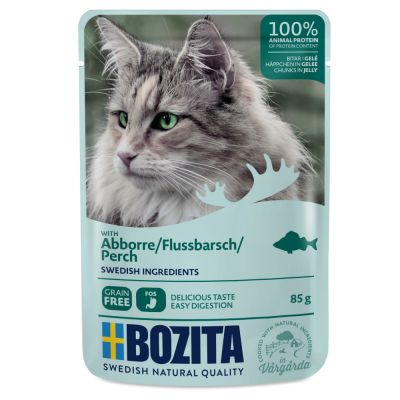 Bozita Chunks in Jelly Pouches 12 x 85g