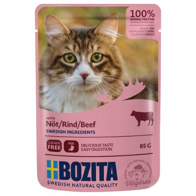 Bozita Chunks in Sauce Pouches Saver Packs 24 x 85g
