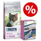 Bozita Feline Pachet mixt: 2 kg hrană uscată + 6 x 190 g hrană umedă