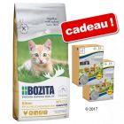 Bozita Kitten sans céréales 2 kg + bouchées en gelée Kitten offertes !