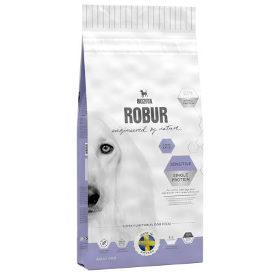 Bozita Robur Sensitive Single Protein, jagnięcina i ryż