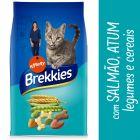 Brekkies com salmão, atum, vegetais e cereais para gatos