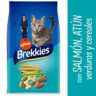 Brekkies con salmón, atún, verduras y cereales para gatos
