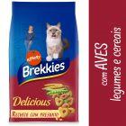 Brekkies Delicious Seleção de aves e vegetais para gatos