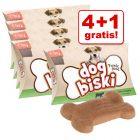 Briantos DogBiski 5 x 90 g snacks la ofertă: 4 + 1 gratis!
