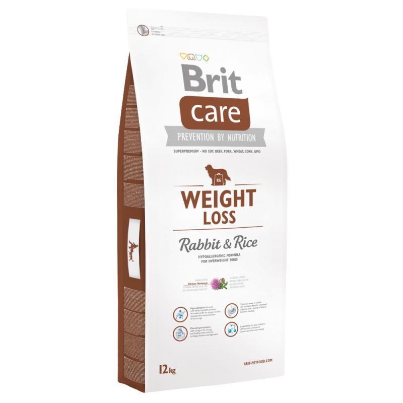 Brit Care Weight Loss lapin, riz pour chien