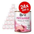 Brit Paté & Meat Puppy gazdaságos csomag 24 x 800 g