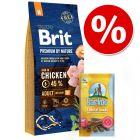 Brit Premium by Nature + Barkoo Dental Snacks, dla średnich psów, 180 g, 7 szt. w super cenie!