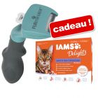 Brosse FURminator + lot IAMS Delights Adult en gelée 12 x 85 g offert !