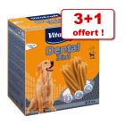 Bâtonnets à mâcher Vitakraft Dental 3in1 3 x 180 g + 1 paquet offert !