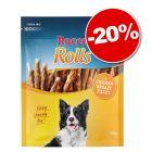 Bâtonnets à mâcher Rocco Rolls filet de poulet 200 g : 20 % de remise !