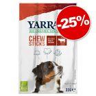 Bâtonnets à mâcher Yarrah Bio 3 x 11 g : 25 % de remise !