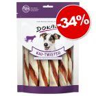 Bâtonnets torsadés Dokas pour chien 200 g : 34 % de remise !