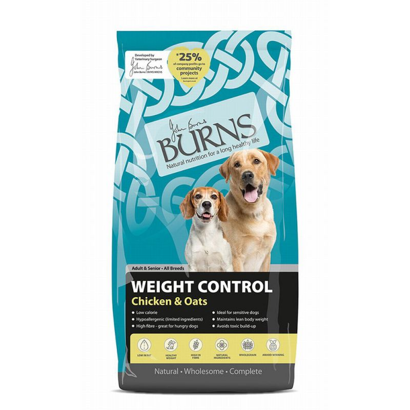 Burns Chicken & Oats - Adult & Senior Weight Control+